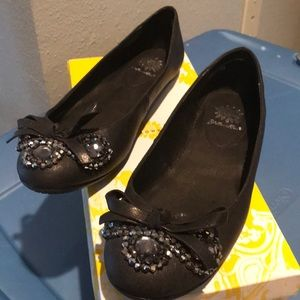 Yellow Box Kennedy Black Flat with Bling front